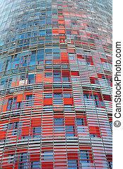 torre, agbar, in, barcelona