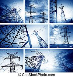 torre, alto-voltagem