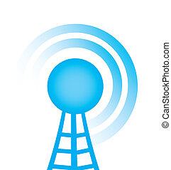 torre, com, rádio