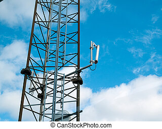 torre comunicazione, moderno, albero