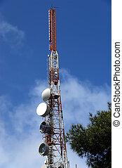 torre comunicazione, moderno, (transmitter)