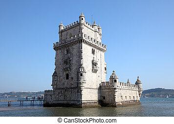 Torre de Belem (Belem tower) in Lisbon, Portugal