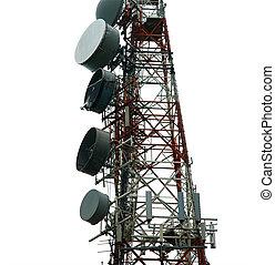 torre de comunicación, moderno, (transmitter)