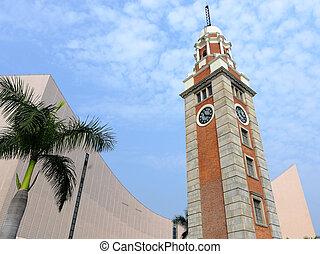 torre de reloj, en, tsim sha tsui, hong kong