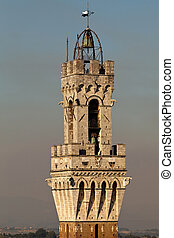 Torre del Mangia in Siena, Italy - Torre del Mangia is a...