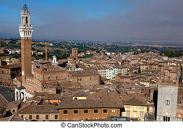Torre del Mangia in Siena, Italy - Torre del Mangia is a ...
