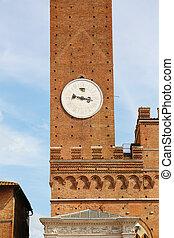 Torre del Mangia Siena of the Palazzo Pubblico in Siena,...