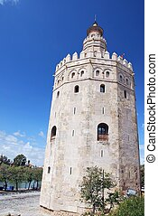 Torre del Oro (Gold Tower), a dodecagonal military ...