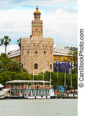 Torre del Oro in Seville, Spain - One of the most well known...