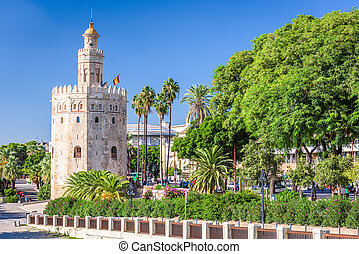 Torre del Oro in Seville, Spain.