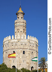 Torre del Oro (Tower of Gold) in Sevilla, Spain