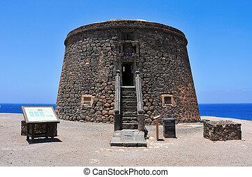 Torre del Toston in El Cotillo, Fuerteventura, Canary Islands, Spain