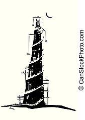 torre, di, babel