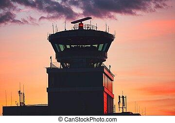 torre di controllo, traffico, aria