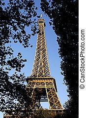 torre eiffel, de, parís