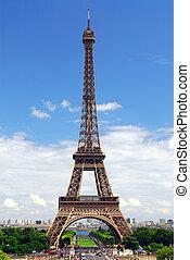 torre eiffel, de, trocadero