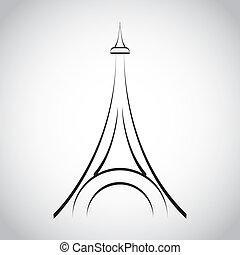 torre, eiffel, diseño