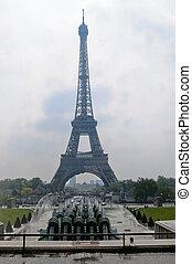 torre eiffel, en, parís