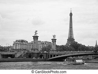 torre, eiffel, parís, francia