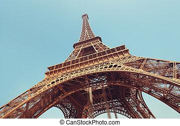 torre eiffel, parís, -, francia