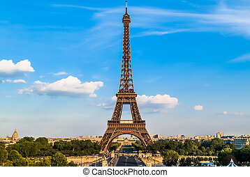 torre eiffel, parigi, città, francia