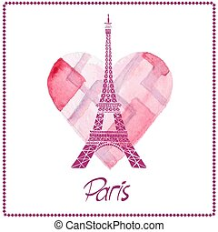 torre eiffel, paris, france., amor