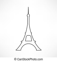 torre, eiffel, paris., francia