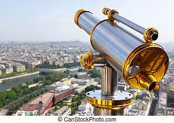 torre, eiffel, telescópio