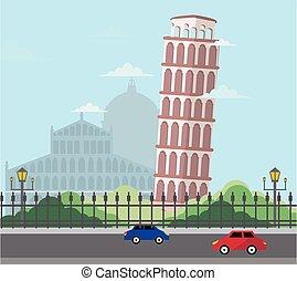 torre, itália, pisa