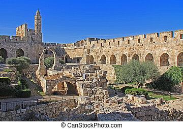 torre, jerusalém, ou, cidadela