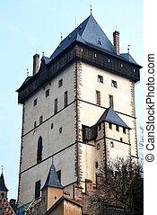 torre, karlstejn, castle.