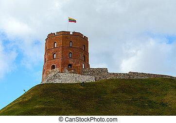 torre, lituania, vilnius, gediminas