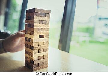 torre, madeira, quebra-cabeça