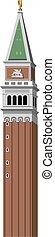 torre, marco, piazza, san