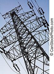 torre metálica de electricidad