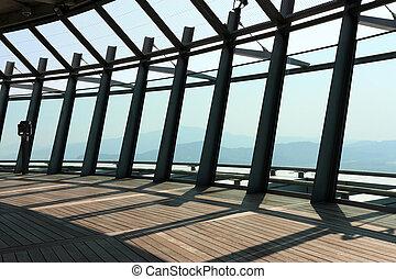 torre, observación, macao, nivel