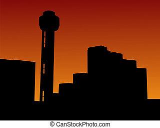 torre, ocaso, reunión