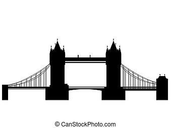 torre ponte, vettore, -