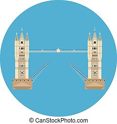 torre ponte, vettore
