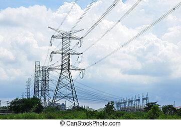 torre, potencia