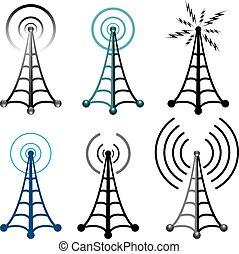 torre rádio, símbolos