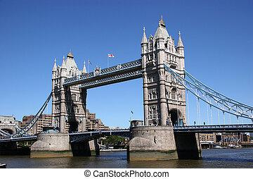 torre, reino unido, puente