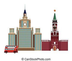 torre, spasskaya, icona