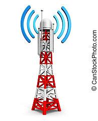 torre, telecomunicación, antena