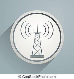 torre, telecomunicazioni, segno