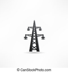 torre transmisión, potencia