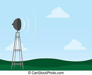 torre, transmissão