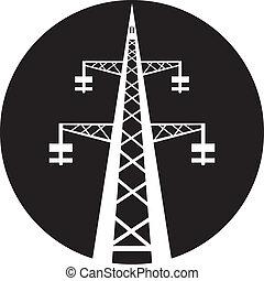 torre transmissão, poder