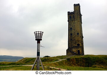 torre, victoria, colina castelo
