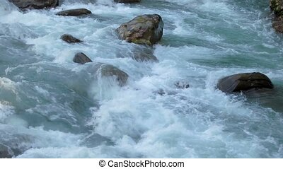 Torrent in Nepal, pristine environment